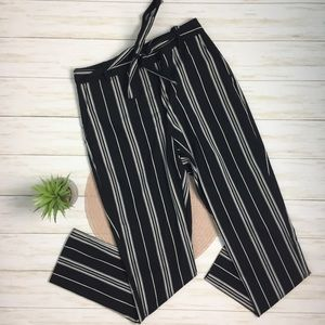 Vince Camino B&W Striped Tie-belt Trouser - 2